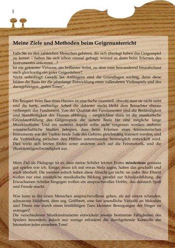 Meine Ziele und Methoden beim Geigenunterricht - Chirita, Ionel