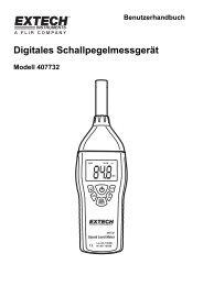 Digitales Schallpegelmessgerät - Extech Instruments