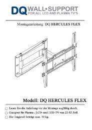 Montageanleitung DQ Hercules Flex - TVWandhalter.at