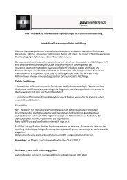 NIPE - Netzwerk für Interkulturelle Psychotherapie nach ...