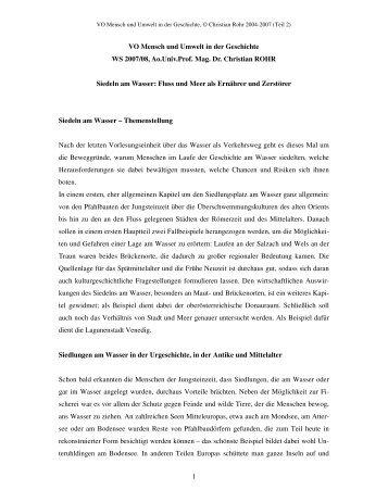 Vorlesung, Teil 2
