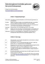 Reglement voor Kerkelijke Gebouwen - Hervormde gemeente ...