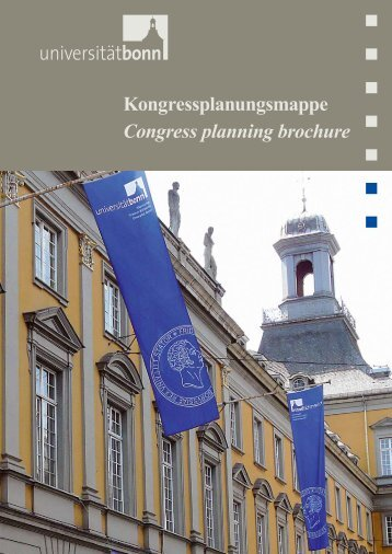 Kongressplanungsmappe Congress planning ... - Universität Bonn