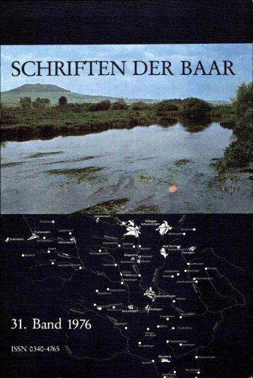 SCHRIFTEN DER BAAR - Baarverein.de