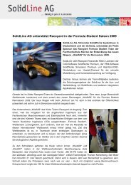 SolidLine AG unterstützt Raceyard in der Formula Student Saison ...