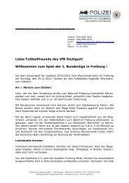 diesen Fanbrief der Freiburger Polizei - VfB Stuttgart