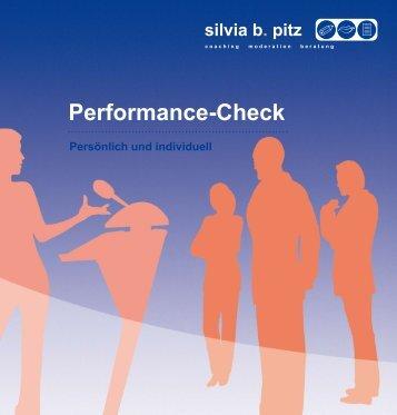 Performance-Check - Silvia b. Pitz Coaching