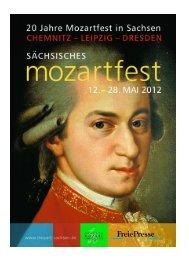 die Beilage Freie Presse - Sächsische Mozart-Gesellschaft e.V.