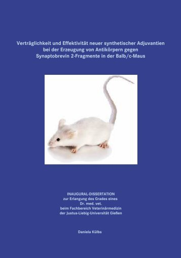 Verträglichkeit und Effektivität neuer synthetischer Adjuvantien bei der