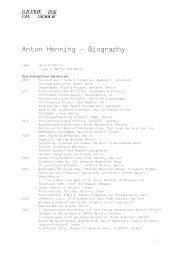Anton Henning – Biography - Galerie Bob van Orsouw