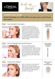 Glamour look: Blond - L'Oréal Paris lounge