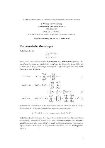 Mathematische Grundlagen - G-CSC Home