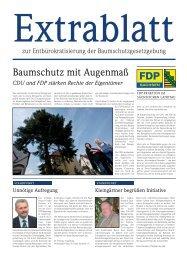 Baumschutz mit Augenmaß - FDP-Landtagsfraktion Sachsen
