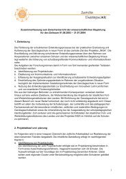Zusammenfassung zum Zwischenbericht der wissenschaftlichen ...