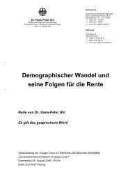 Demographischer Wandel und seine Folgen für die Rente - Gbcms.de