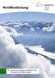 Interannual climate variability in the European and ... - MeteoSchweiz