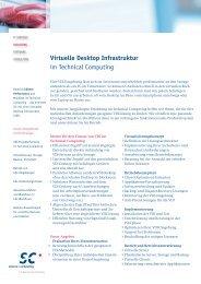 Virtuelle Desktop Infrastruktur im Technical Computing