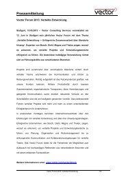 Vector Forum 2013: Verteilte Entwicklung