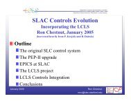 SLAC Controls Evolution - DESY - MPY-Group