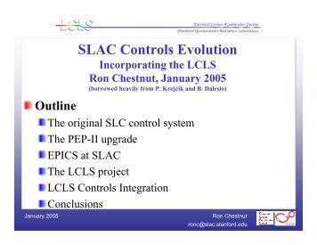 SLAC Controls Evolution - DESY - MPY-Group