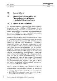 11/1 11. Frau und Beruf 11.1 Frauenbilder – Konstruktionen ...