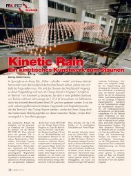 Kinetic Rain – Ein kinetisches Kunstwerk zum Staunen