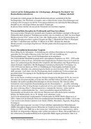 Antwort von Volkmar Aderhold zur Stellungnahme Neuroleptika