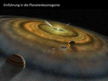 Einführung in die Planetenkosmogonie