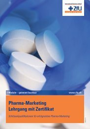 Pharma-Marketing Lehrgang mit Zertifikat - ZFU International ...