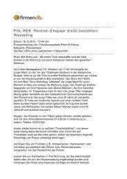 POL-REK: Rentner-Ehepaar dreist bestohlen/ Wesseling - Firmendb