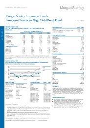 European Currencies High Yield Bond Fund Morgan ... - Fundinfo