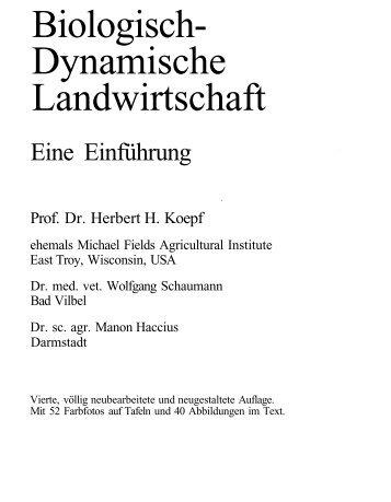 Biologisch- Dynamische Landwirtschaft