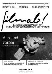 Ausgabe als PDF - Magazin und Blog zum filmkunstfest MV ...