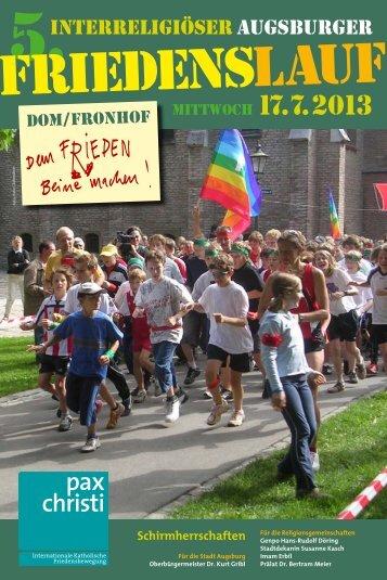 Friedenslauf 2013 Broschüre