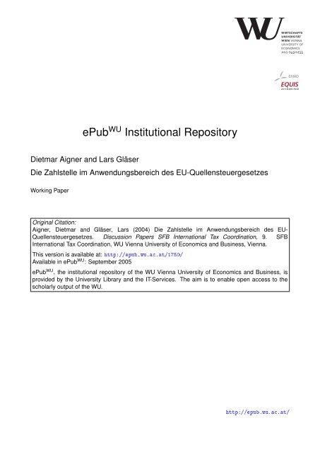 Download (576Kb) - ePub WU - Wirtschaftsuniversität Wien