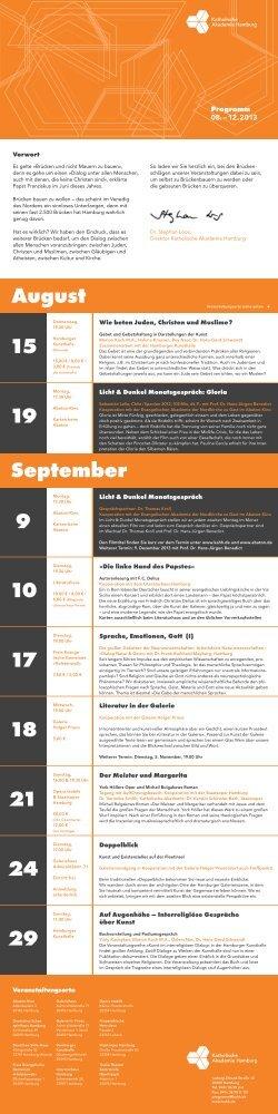 11 September 19 15 9 24 21 29 10 17 18 August - der Katholischen ...