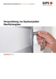 Merkblatt Verspachtelung von Gipsfaserplatten - Bauhandwerk
