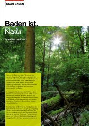 Stadtblatt Juni 2013, Baden ist. Natur [PDF, 801 KB] - Stadt Baden