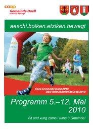 Programm 5.–12. Mai 2010