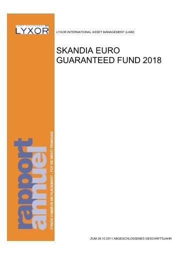 SKANDIA EURO GUARANTEED FUND 2018