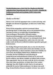 Verabschiedung von o. Univ. Prof. Dr. Claudia von ... - Bernd Senf