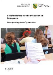 Georgius-Agricola-Gymnasium Bericht über die externe Evaluation ...