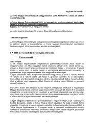 A Tolna Megyei Önkormányzat 2009. évi nemzetközi ...