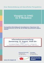 Visagist/-in (VHS) (in 4 Modulen) - Volkshochschule Meppen