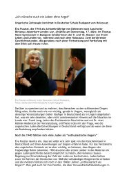 Ich wünsche Euch ein Leben ohne Angst - Thomas Mann Gymnasium