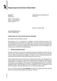 Vernehmlassung - Regierungsrat
