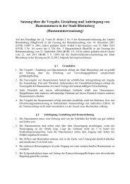 Satzung über die Vergabe von Hausnummern - Stadt Rheinsberg