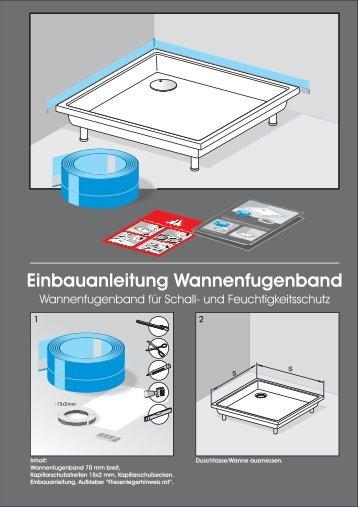 Einbauanleitung Wannenfugenband - SHK-DIREKT Shop
