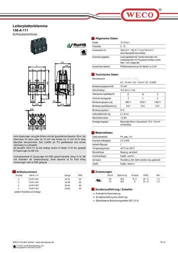 Leiterplattenklemme 158-A-111 - Baum Electronic