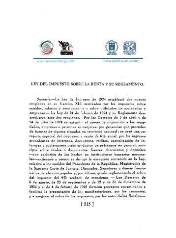 ley del impuesto sobre la renta y su reglamento. - Senado2010.gob ...